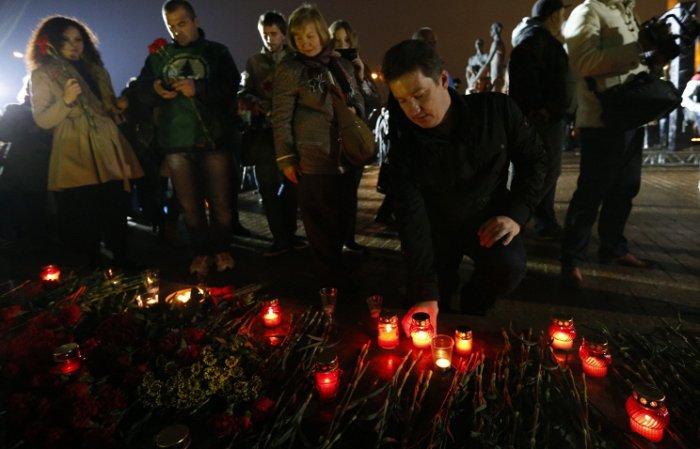 В Москве прошла акция скорби по погибшим на Донбассе