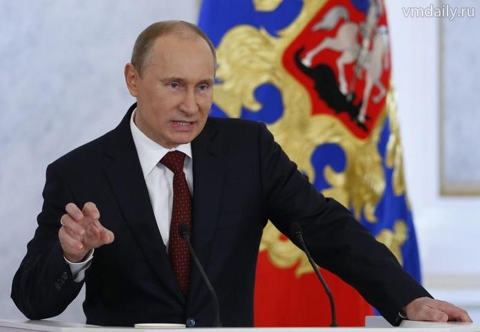 Президент России Владимир Путин сегодня обратится с посланием к Федеральному собранию