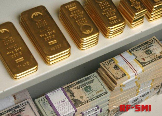 Запасы золота в резервах России не меняются шестой месяц подряд