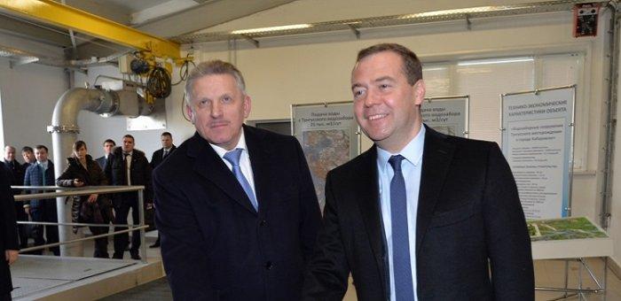 Дмитрий Медведев посетил Тунгусский водозабор в Хабаровске