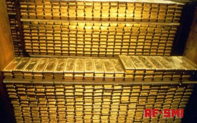 ЦБ России в феврале прикупил девять тонн золота