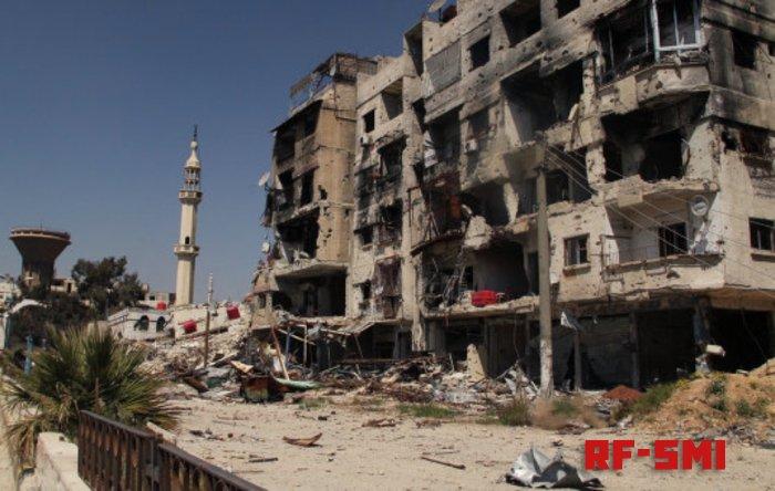 Самолеты израильских ВВС атаковали базу сил Асада к югу от города Хомс.