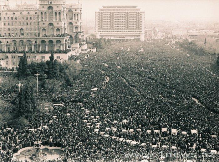 Азербайджан. Баку. 20 января 1990 года. Черный январь.