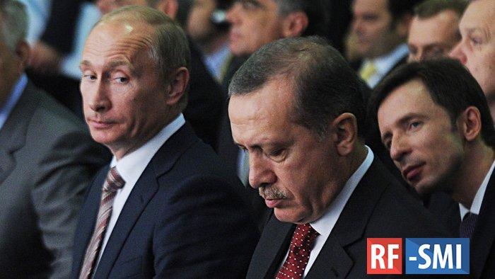 Р. Эрдоган назвал В. Путина своим другом, а про ЕС сказал, что они морочат голову Турции