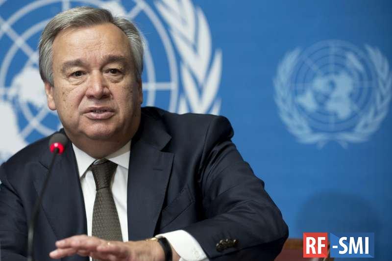 """Генсек ООН упрекнул богатые страны в """"вакцинном национализме"""""""