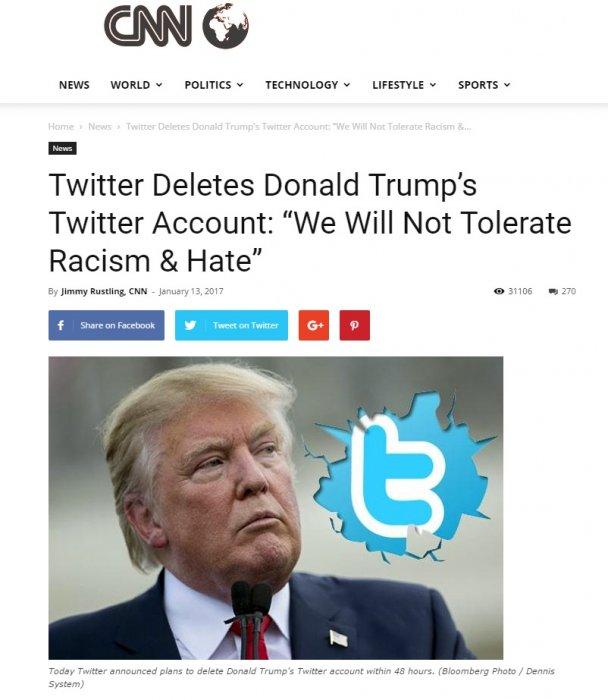 Картинки по запросу Твиттер удалит аккаунт Трампа
