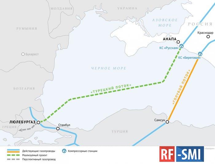Газопровод «Голубой поток» не работает с середины мая и уже не нужен Турции