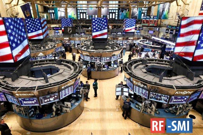 Биржи США закрылись в минусе на фоне роста доходности гособлигаций