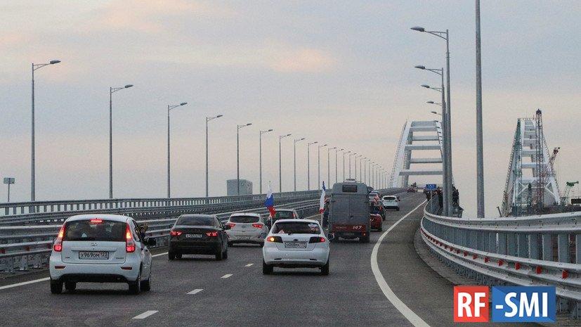 Интенсивность движения по Крымскому мосту увеличилась в 3 раза в июле