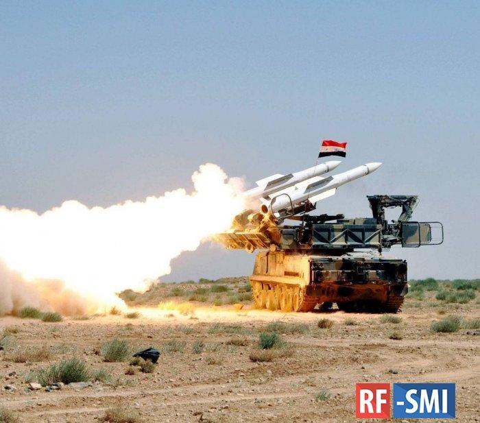 Сирия сбила израильские беспилотники-разведчики к западу от Дамаска