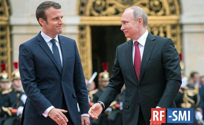 Макрон сообщил о планах провести переговоры с Путиным