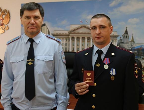 Тюменский участковый получил медаль: за нейтрализацию  преступника