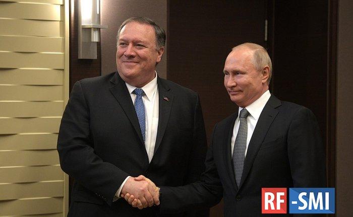 Владимир Путин принял госсекретаря США Майка Помпео.