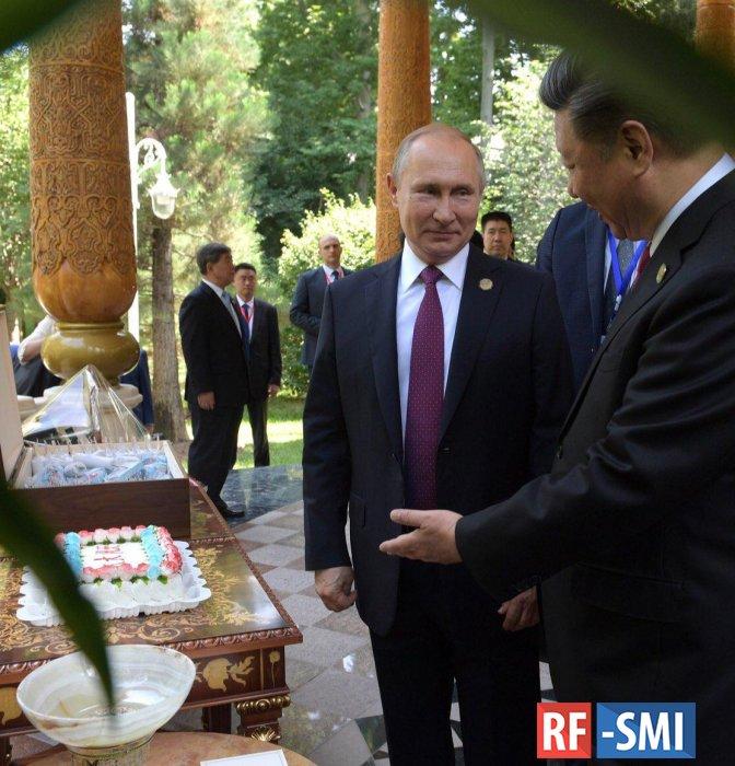 В Путин поздравил лидера Китая  Си Цзиньпина   с  Днем рождения