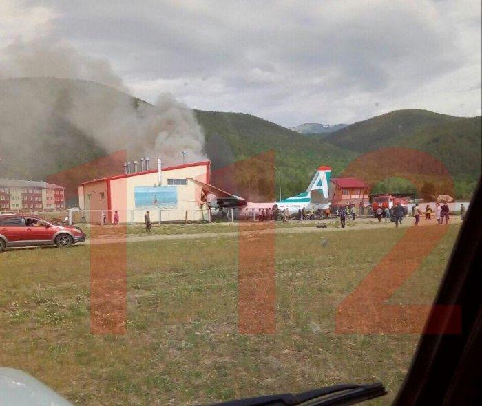 Ан-24 выкатился за пределы взлетной полосы Нижнеангарска