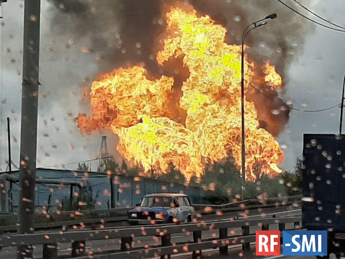 В Мытищах горит ТЭЦ-27