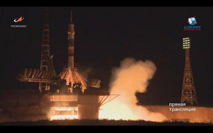 Успешно стартовала ракета-носитель «Союз-ФГ» с пилотируемым кораблём «Союз МС-13»