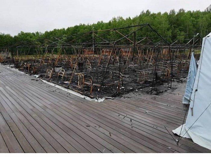Пожар в детском палаточном лагере под Хабаровском. Есть погибшие