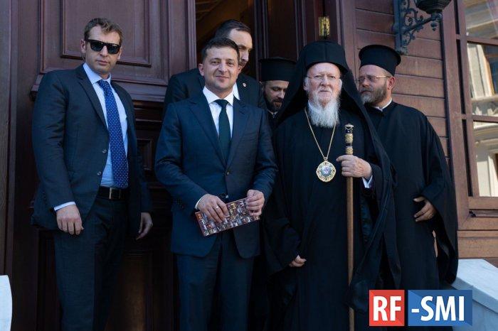 Зеленский на встрече с Варфоломеем заявил, что не будет вмешиваться в дела церкви
