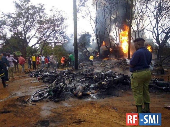 В Танзании на шоссе взорвался бензовоз. 60 погибших