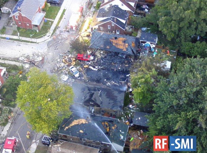 В Канаде взрыв газопровода разрушил семь домов