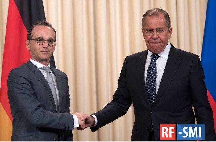 Маас и Лавров обсудят ситуацию в Сирии и на Украине