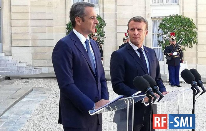 Франция пообещала поддержку Греции в связи с действиями Турции близ Кипра
