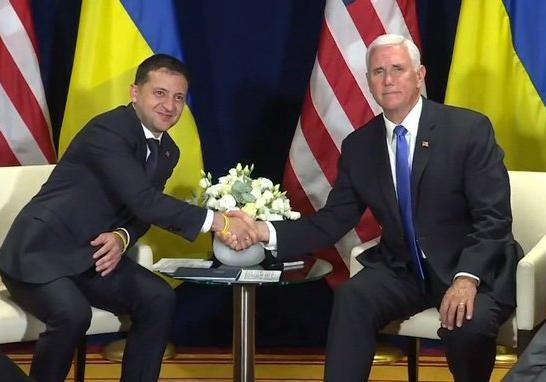 На встрече с Пенсом Зеленский заговорил про скорый мир на Донбассе
