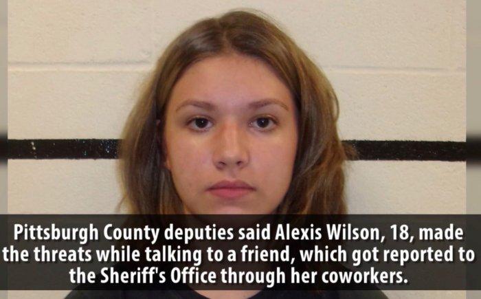 Полициейские задержали девушку, которая планировала массовый растрел