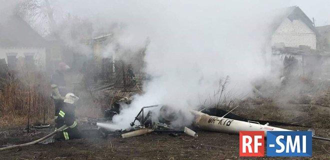В Полтавской области упал вертолет с экс-министром на борту