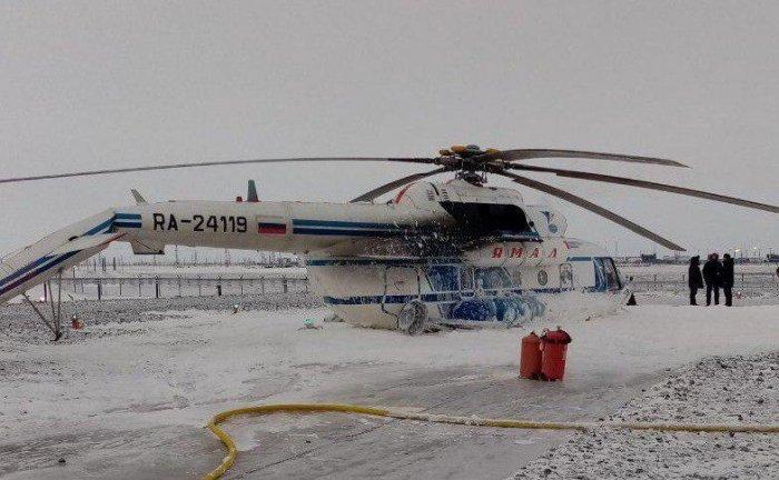 Вертолёт Ми-8 совершил жёсткую посадку на Ямале