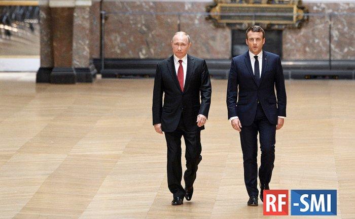 Макрон ответил Путину по РСМД: важный шаг к налаживанию отношений с Москвой