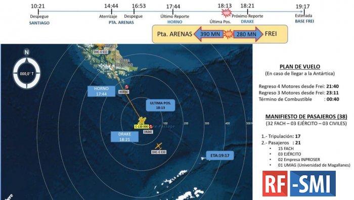 Во время перелета пропал с радаров самолет чилийских ВВС