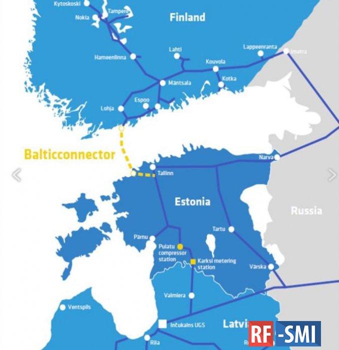 В Эстонии и Финляндии открыли газопровод Balticconnector
