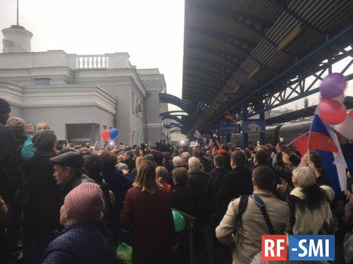 Прокуратура Украины возбудилась после прибытия в Крым первого поезда...