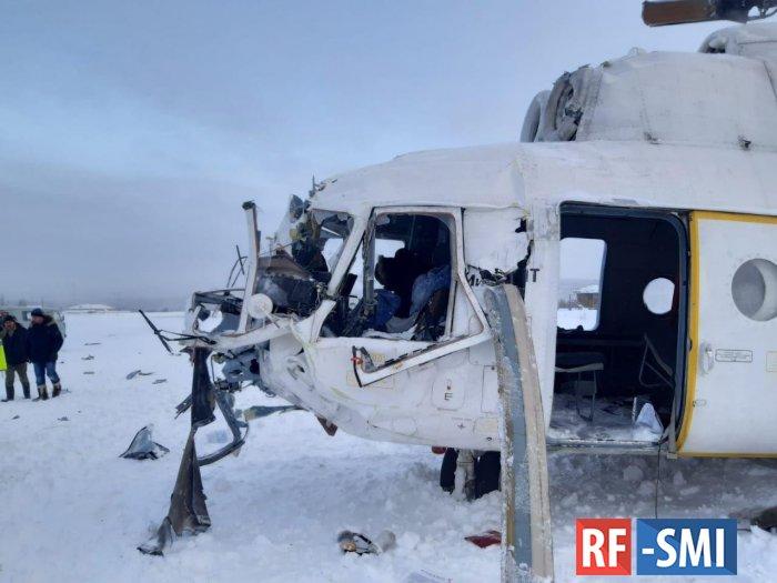 Вертолёт Ми-8 совершил жёсткую посадку в Красноярском крае