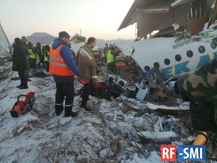 Самолет авиакомпании Bek Air упал за пределами аэродрома Алма-Аты