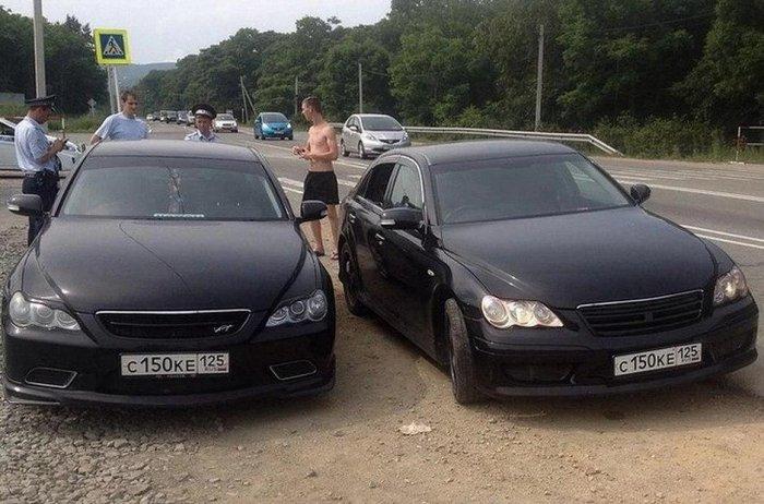 В Самаре сотрудники ГИБДД задержали автомобили на одинаковых номерах