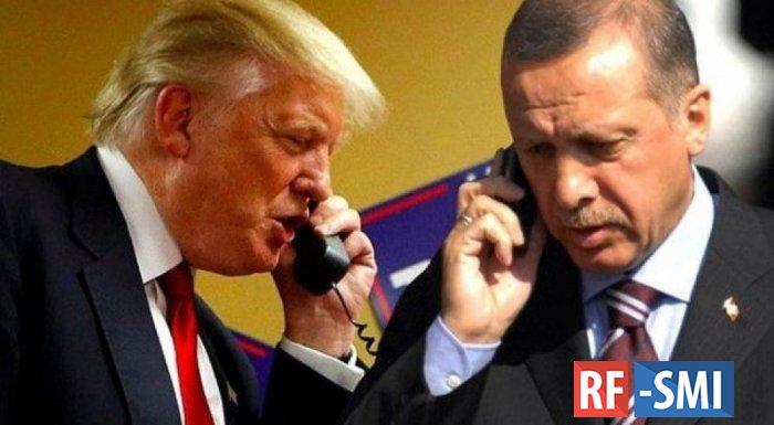 Трамп и Эрдоган обсудили по телефону ситуацию в Сирии и Ливии