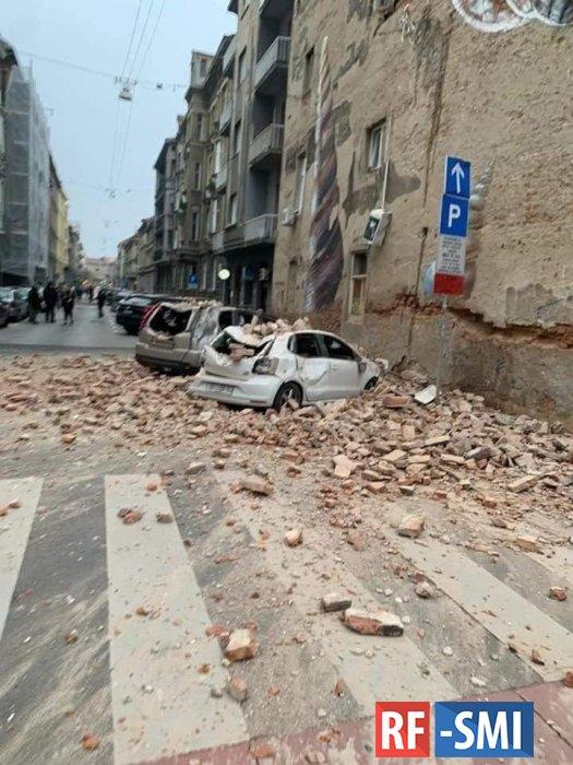В Хорватии сегодня произошло мощное землетрясение