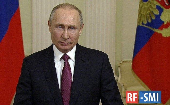 В. Путин поздравил сотрудников Росгвардии с профессиональным праздником