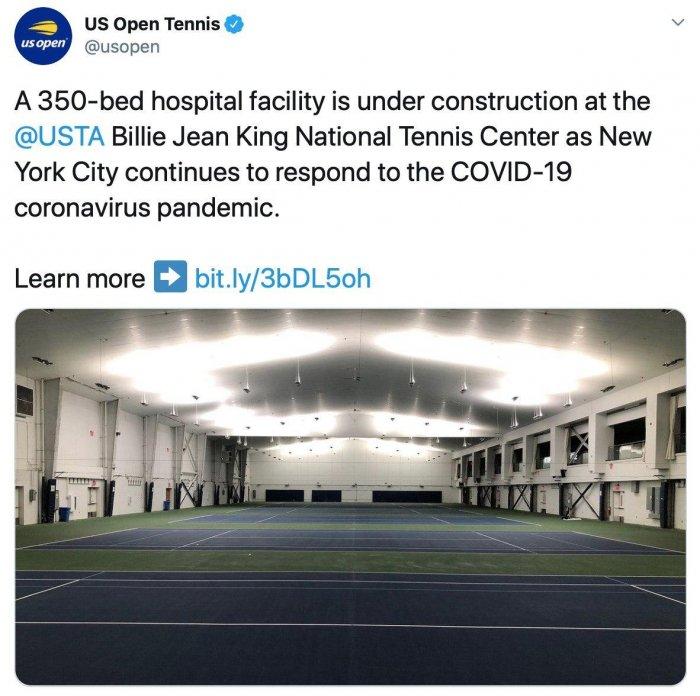 Теннисные корты US Open превратятся в больницу под открытым небом