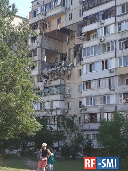 В киевской многоэтажке произошел взрыв газа