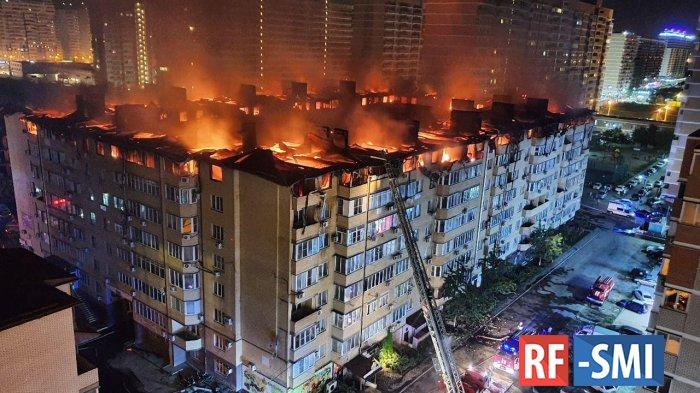 Открытое горение в жилом доме в Краснодаре ликвидировали