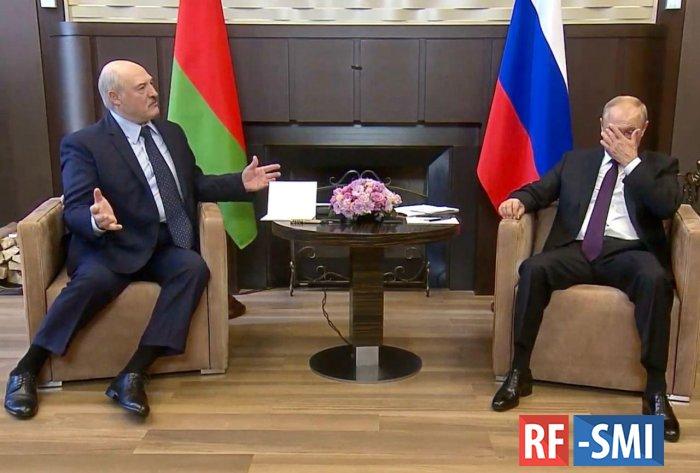 "Александр Лукашенко к Владимиру Путину ,- ""За всё тебя благодарю..."""