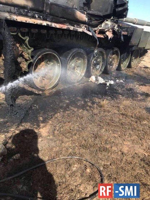В Астраханской области во время военных учений подбили танк Т-90A