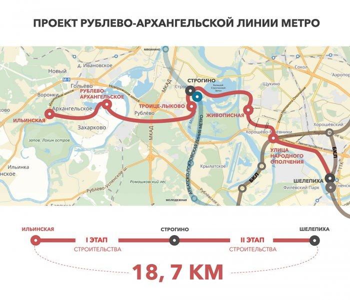 В Москве началось строительство Рублево-Архангельской линии метро