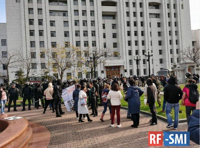 Провокаторы пытаются радикализировать протест в Хабаровске