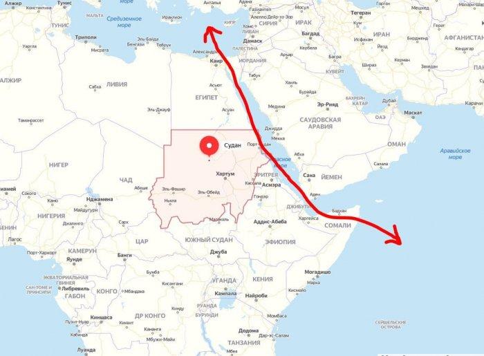Судан предоставит  землю под российскую военную базу безвозмездно