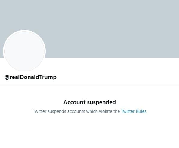 Аккаунт Дональда Трампа в Twitter был заблокировал бессрочно